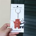 Creative Gifts Hanging Decoration Cartoon Circle Our Bare Bear we Bare Bears Keychain Pendant Three Small Base Bear