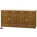 【台北家福】(FB300-3)樟木色實木5.3尺碗盤櫃/電器櫃組家具