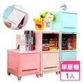 美樂麗 隱藏式上掀蓋家居收納36L置物櫃 粉紅x1層 (附腳架x1)