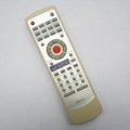 รีโมทใช้กับเครื่องเล่นดีวีดีโซเคน รหัส RC027-01R  ตัวรีโมทสีครีม หน้าสีบรอนซ์เงิน , Remote for SOKEN DVD