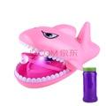 洗澡泡泡机 抖音儿童鲨鱼充电自动吹吐泡泡制造机男女宝宝洗澡玩具 粉【收藏留言送泡泡液+电池】