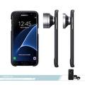Samsung三星 原廠Galaxy S7 edge專用 鏡頭式背蓋組 真皮質感 /防震薄型保護套 /防護硬殼