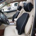 汽車頭枕腰靠套裝四季車用座椅護頸枕靠背墊記憶棉頸椎枕腰枕套裝