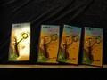 ◎貓頭鷹◎早期玩具專賣-早期台灣製塑膠迷你武士刀4個(保存良好)(5F-BOX24)