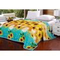 ❀蘇蘇購物館❀向日葵毛毯加厚冬季保暖床單法蘭絨毯珊瑚絨毯子蓋毯午休雲貂絨毯