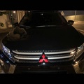 Mitsubishi三菱 Eclipse Cross 水箱網中網標 尾標 后車標 汽車裝飾標 碳纖維色鍍鉻裝飾