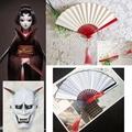 COS 道具 第五人格 女監管者紅蝶  COS 扇子 面具