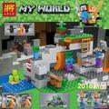 「懶貓」我的世界兼容樂高積木男孩子拼裝7-9歲益智兒童玩具21141僵尸洞穴