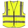 螢光黃/橘色 美式多口袋反光背心 拉鍊款 可印字Logo 交通安全 學校導護 自行車 夜間指揮工程 反光背心 選舉 進香