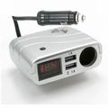 多功能12V汽車電壓表+USB充電器x2+點煙器孔 電瓶檢測監控電壓 大功率手機平板充電 適合汽車及機車