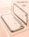 Transparent Clear Electroplate Soft Silicone TPU Phone Case Phone Cover For VIVO Y71 for vivo y71