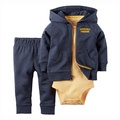 【hella 媽咪寶貝】美國 Carter 's 嬰幼兒春夏外套包屁衣長褲三件組_運動海軍籃_CTBC030