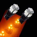 【PA LED】T10 黃光 5晶 15晶體 SMD LED 耐熱底座 小燈 方向燈 儀表燈 定位燈 室內燈 牌照燈