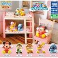 全套5款【日本正版】迪士尼 還想睡公仔 扭蛋 轉蛋 史迪奇 奇奇蒂蒂 小熊維尼 TAKARA TOMY - 872808