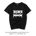 Justin Bieber賈斯汀比伯同款Purpose tour情侶裝男女款短袖T恤衫