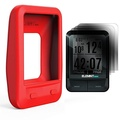 TUSITA Silicone Skin Case Screen Protector Wahoo Elemnt Mini GPS Bike Computer Cover , Red