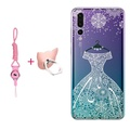 For Huawei P20 Pro Case Clear Print Flower Soft TPU Back Cover For Huawei P20 Pro Phone Case