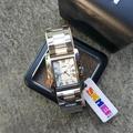 skmei นาฬิกาข้อมือผู้หญิงสแตนเลส หน้าคาเทียร์ เรียบหรุ