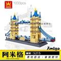 阿米格Amigo│萬格5215 倫敦雙子橋 倫敦塔橋 倫敦橋 世界著名建築 地標 經典建築積木非樂高但相容 萬格8013
