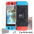 Dockable Case for Nintendo Switch [Updated],FYOUNG Protective Accessories Cover Case for Nintendo Switch and Nintendo Switch Joy-Con Controller with a Tempered Glass Screen Protector - intl