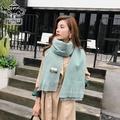 【Bella Vie】韓系純色流蘇保暖圍巾(共13色)