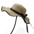 Wide Large Wave Brim Straw Beach dome hat Sun Bowler Caps with Black Ribbon  Fishing Hat Travel Outdo 52a783c55d0e