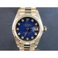 ROLEX 勞力士 69178 原裝暴藍 十鑽面盤 原裝女錶 LR34
