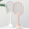 【Beson】和風LED燈電蚊拍(附底座)
