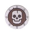 【LEGO 大補帖】深灰色 骷髏 盾牌【4506836/59644/59231pb01/7094/7093】(MS-3)