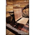 1890年代美國古董木製學生摺疊桌椅 [CHAIR-0091]
