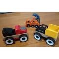 Ikea玩具車兩入+它牌玩具工程車,(二手)