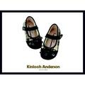 【Kinloch Anderson 金安德森】女童經典格紋蝴蝶結娃娃鞋 (經典黑)
