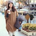 享瘦衣舍中大尺碼【B1244】長版POLO造型時尚毛織衫