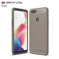 UPaitou Soft Case for OPPO R11S Plus Luxury Brushed TPU Case with Texture Carbon Fiber Design Silicon Protection Cover for OPPO R11S Plus Slim Fit Phone Case - intl