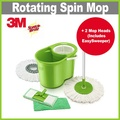 [+] 3M Scotch-Brite™ Double Bucket Spin Mop + 2 Spin Mop Heads + 2 Mop Pads ★ Interchangeable Head