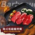 韓式電磁爐烤盤 30cm 電磁爐烤盤 韓式麥飯石烤盤 無煙 不黏鍋 燒烤 烤肉 牛排 鐵板燒【N202645】