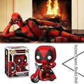 Action Figure Model Doll Ornaments For Funko Pop Motorcycle Deadpool Cosplay