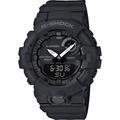 【CASIO 卡西歐】G-SHOCK 活力充沛計步藍芽雙顯錶-黑(GBA-800-1A)