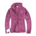 美國百分百【全新真品】Columbia 外套 夾克 刷毛外套 哥倫比亞 深紫 立領 保暖 輕巧 女衣 S號 B534