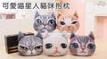三浦太郎-可愛喵星人3D仿真貓咪抱枕