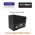 AC Ryan Playon! Retro Mini Loud Stereo Speaker, Support  Alram Clock, FM Radio, TF-Card, USB, Aux & Bluetooth Input