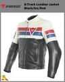 ~任我行騎士部品~ Dainese 8-Track Leather Jacket 黑白紅 牛皮 防摔衣 保暖內裡 休閒