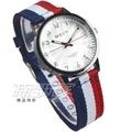 BOLUN 歐風米蘭時尚風情 浪漫城市 帆布錶帶 數字錶 石英錶 女錶 白色 BO1745白