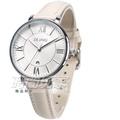 DEJAVU 羅馬時刻 繽紛色系 指針錶 學生手錶 日期顯示窗 皮革 女錶 DJ-5022米【時間玩家】
