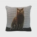Art de Lys法國原裝 2161N黑色貓咪抱枕套36x36