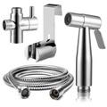 Bidet Spray - Premium Stainless Steel Bathroom Toilet Hand Held Handheld Portable Bidet Spray Sprayer Gun And Hose