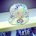 韓國立體刺繡字母棉質 平沿帽子  嘻哈帽 帽子