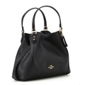 Coach Leather Handbag with Dustbag Included.