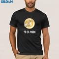Bitcoin To Moon Summer Fashion O Neck Short Sleeve