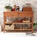 CiS自然行實木家具 電器櫃-碗盤櫃-雜貨櫃-置物櫃W110cm(溫暖柚木色)
